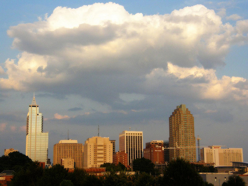 Looming Clouds & Downtown Raleigh